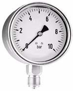 "Manometer Glyc. Rvs Kast 63mm 0-4 bar 1/4"" oa"